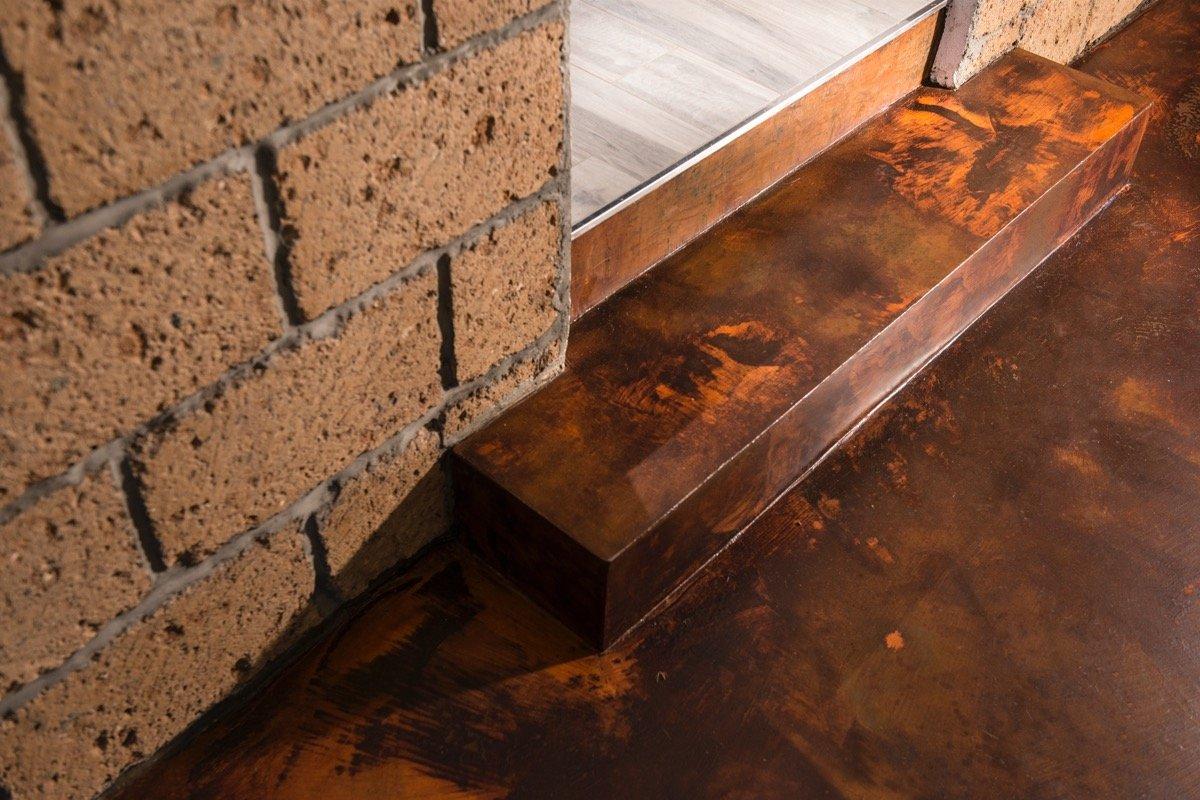 Pavimento resina effetto Corten
